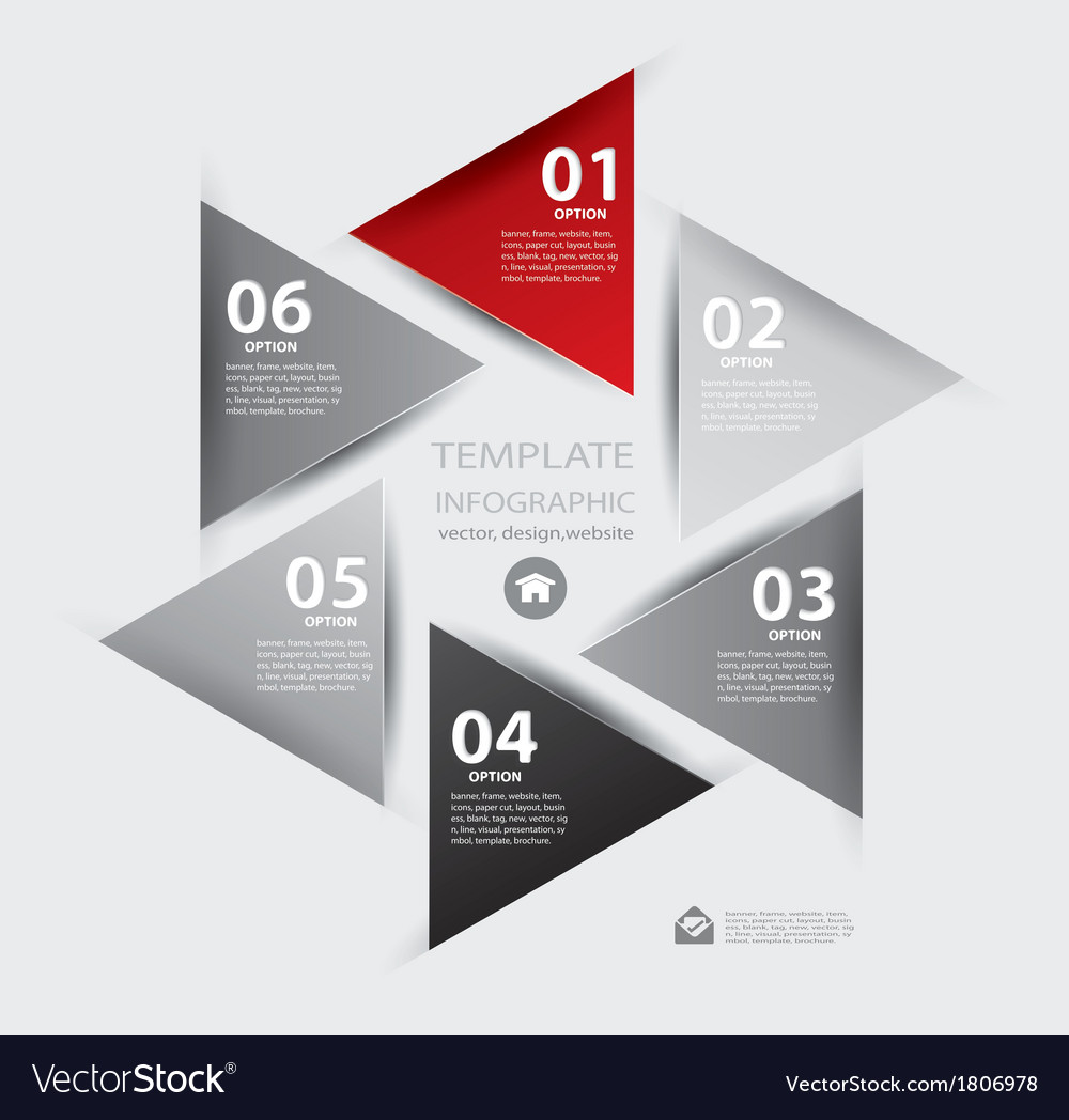 paper lines and numbers design template royalty free vector