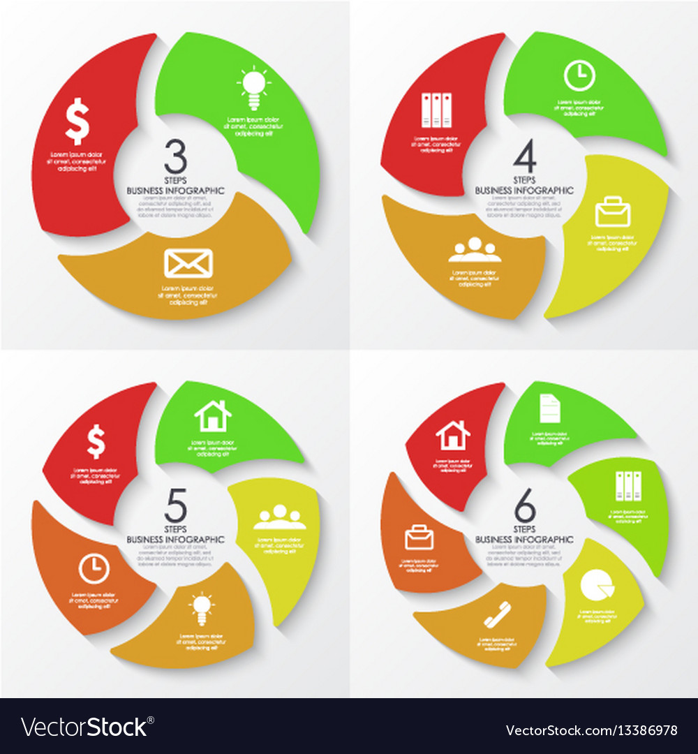 Round infographics template for diaram