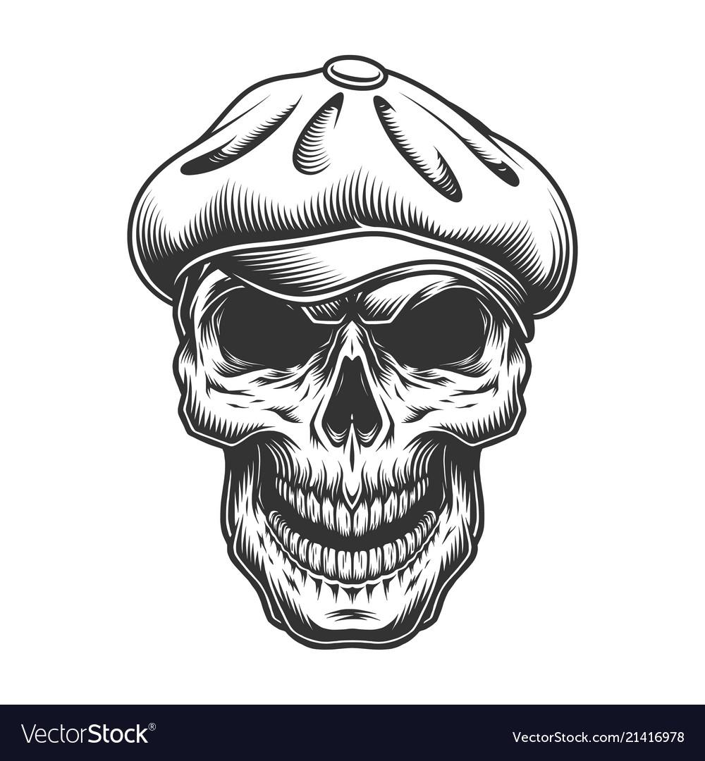 Skull in the tweed hat