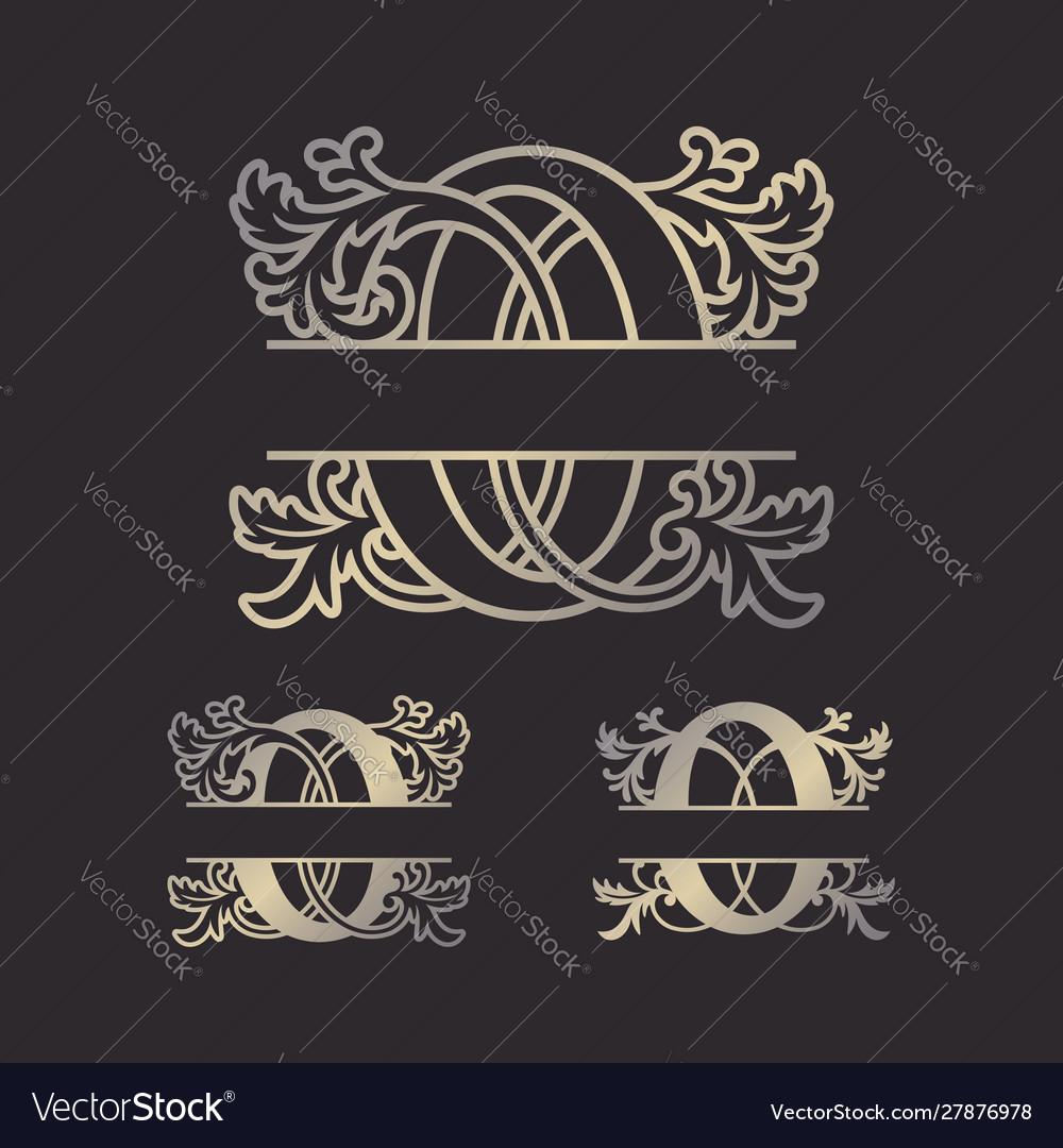 Split letters split monogram font split alphabet