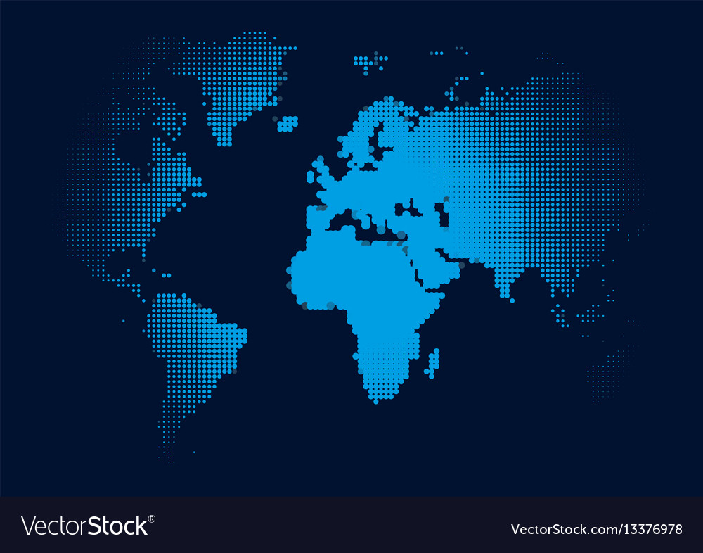 World continents map dots style royalty free vector image world continents map dots style vector image gumiabroncs Gallery