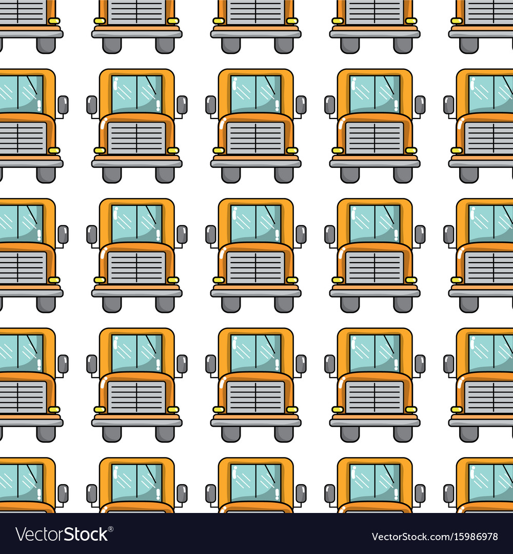 Yellow school bus to children transportation