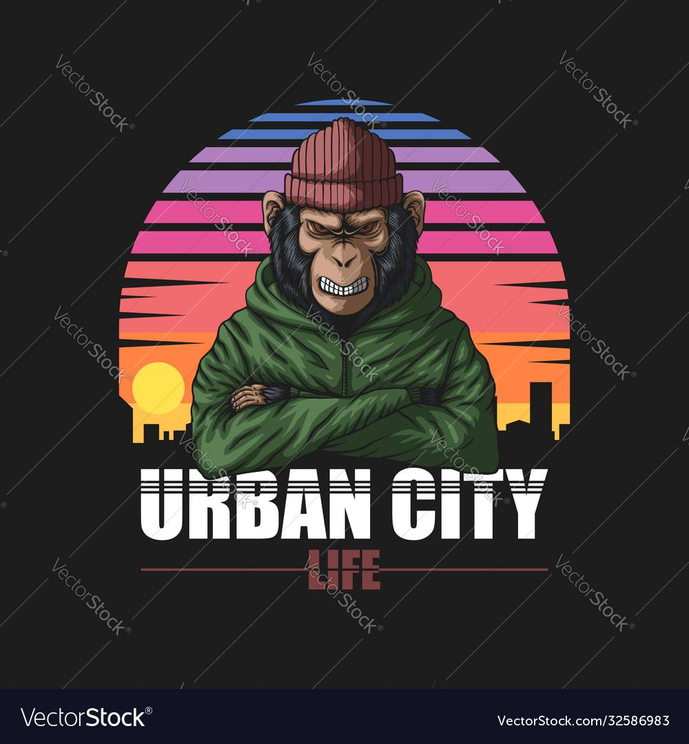 Angry urban monkey