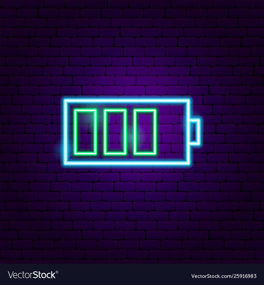 Battery neon label
