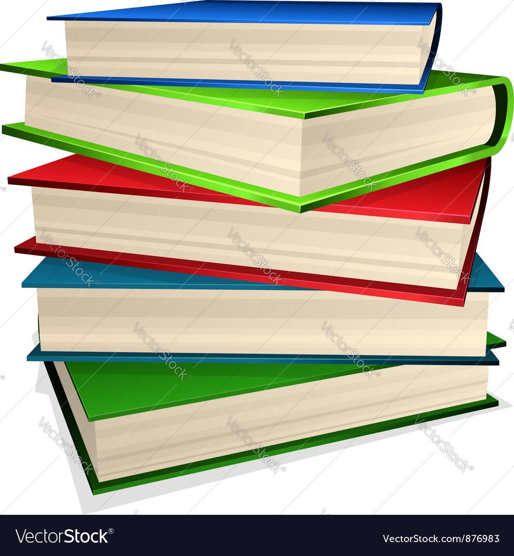 book stack royalty free vector image vectorstock