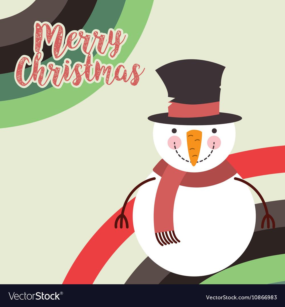 Cute snowman christmas character
