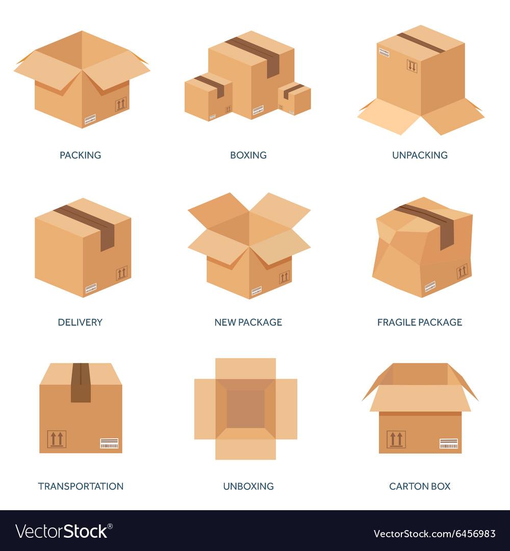 Flat carton box Transport