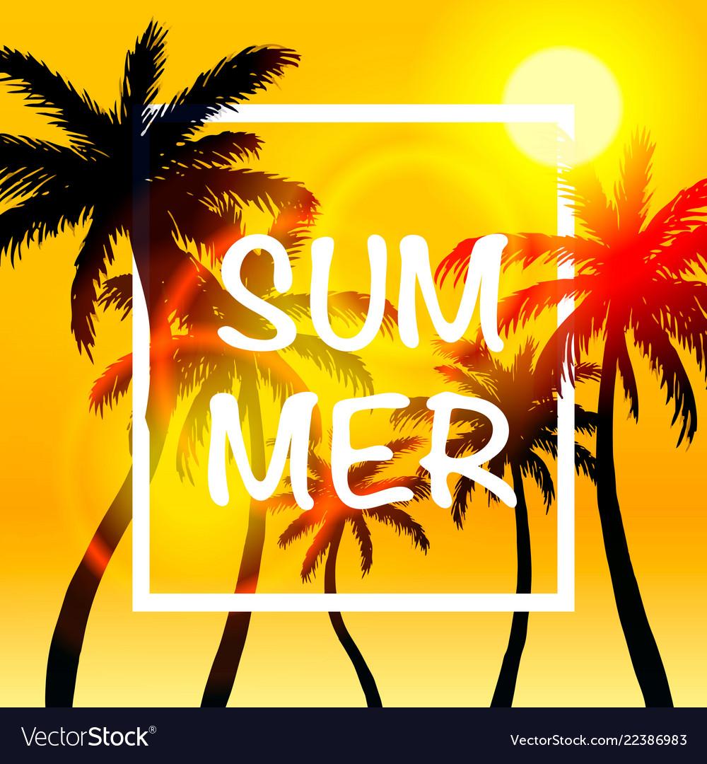 Palms summer cover frame banner