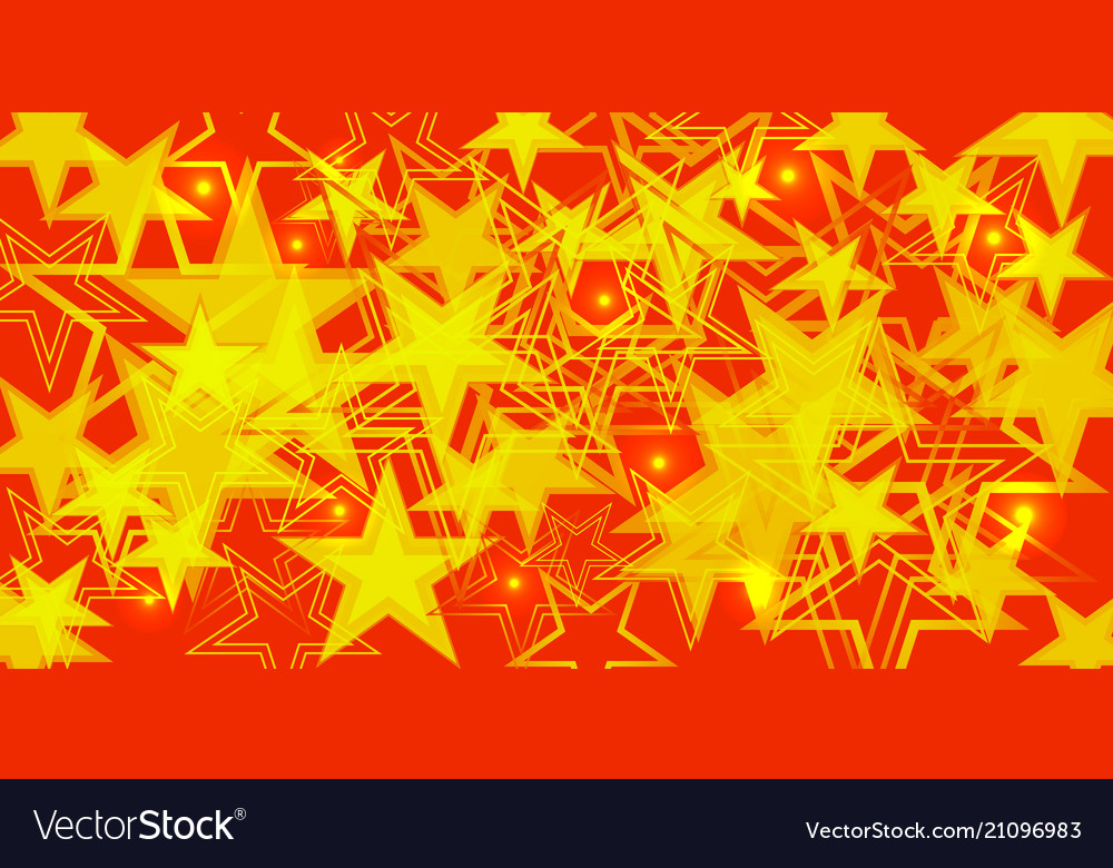 Yellow background in red and orange stars