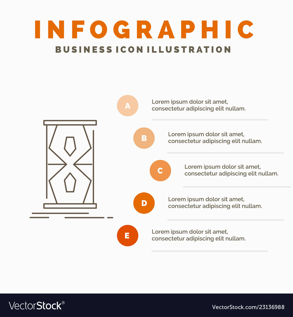 Access clock early sand clock time infographics
