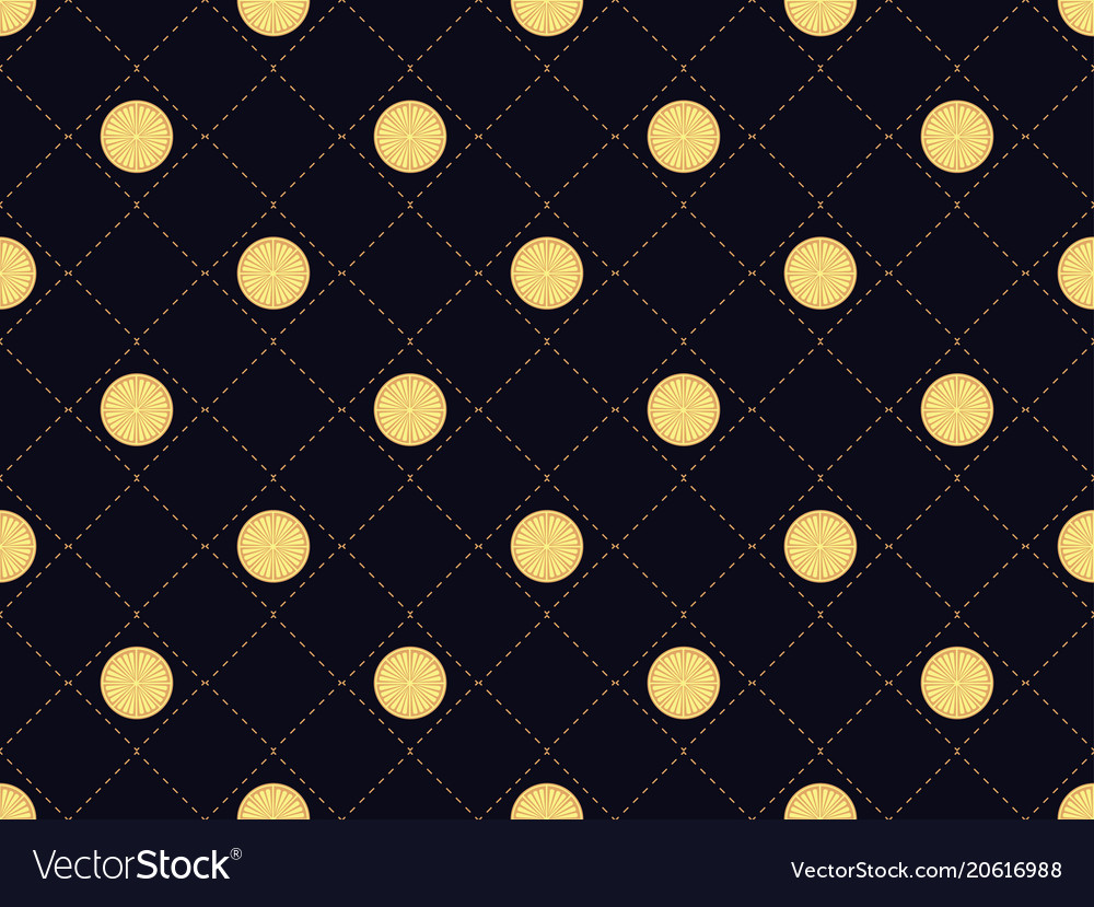 Art deco seamless pattern with round slices
