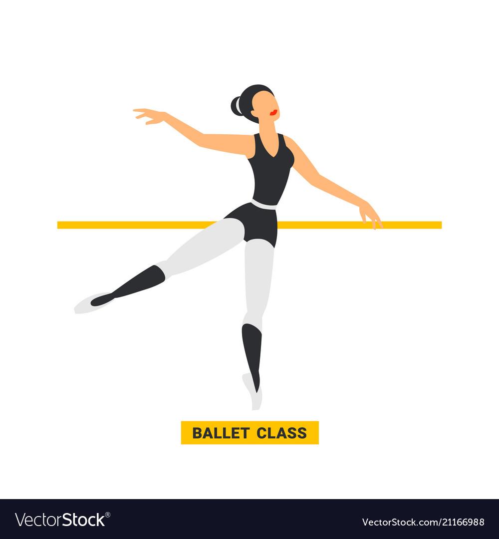 Ballet class ballerina dancing in dance studio
