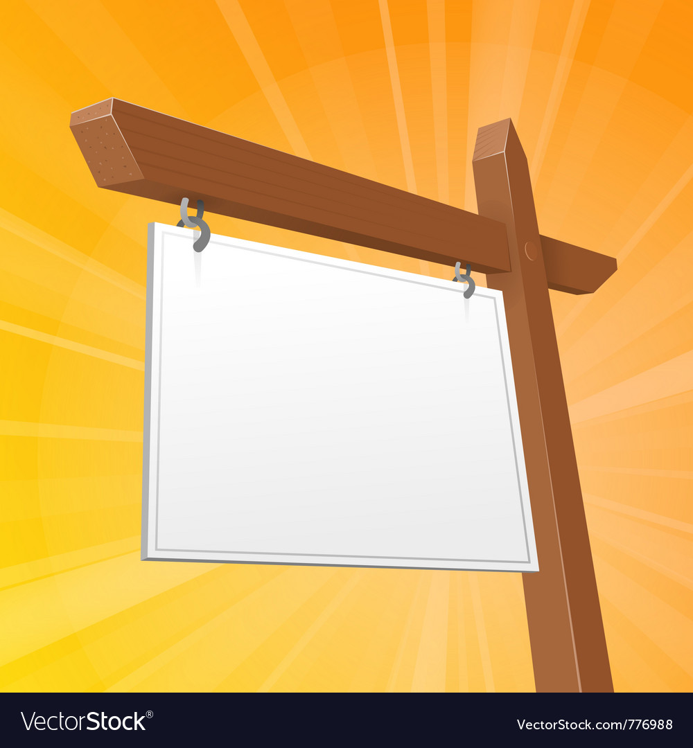 Brown real estate sign vector image