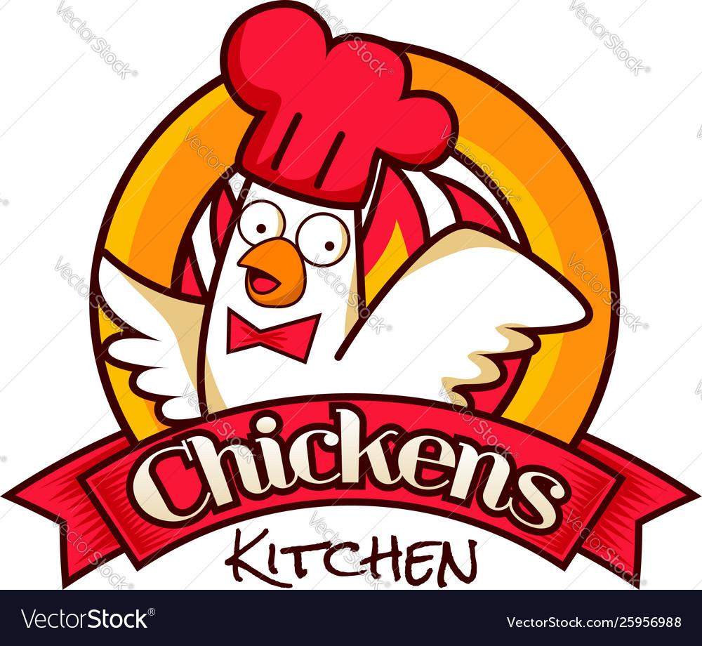 Chicken kitchen restaurant logo symbolprint