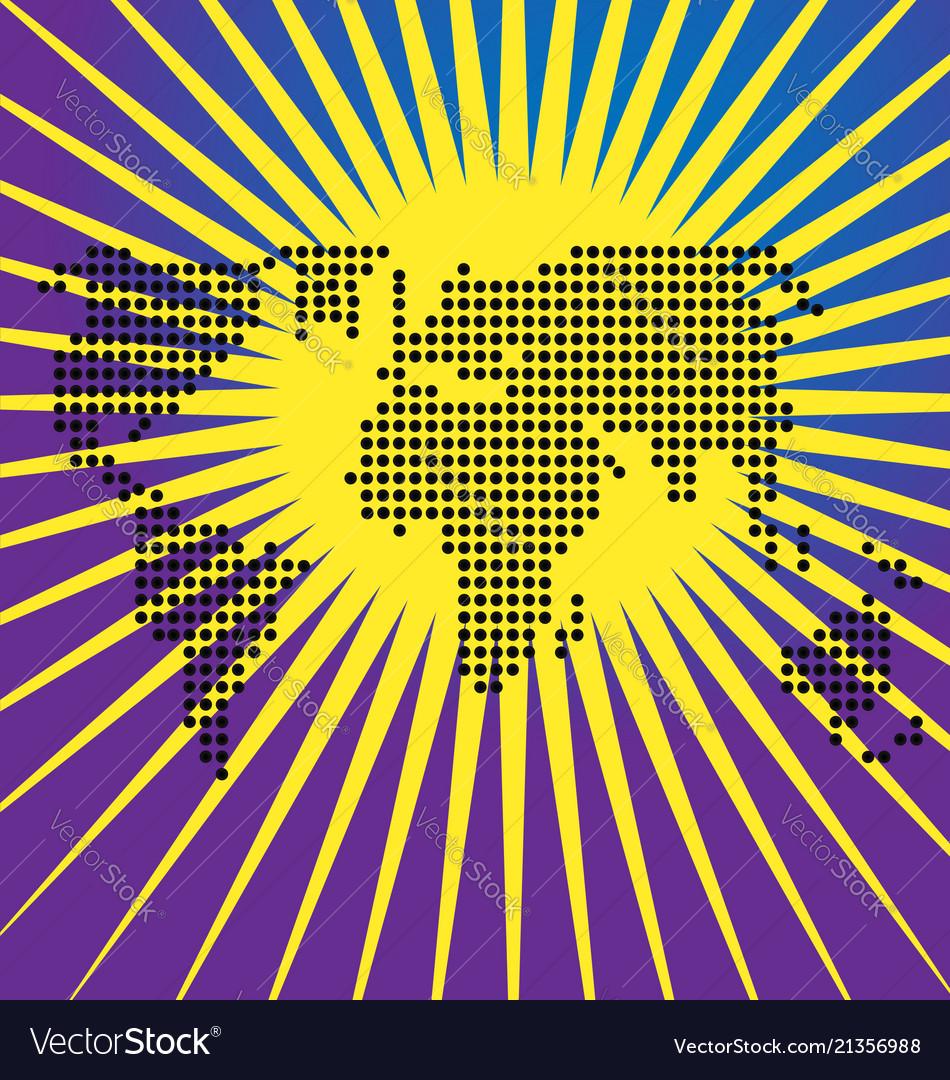 Dots world map globe background