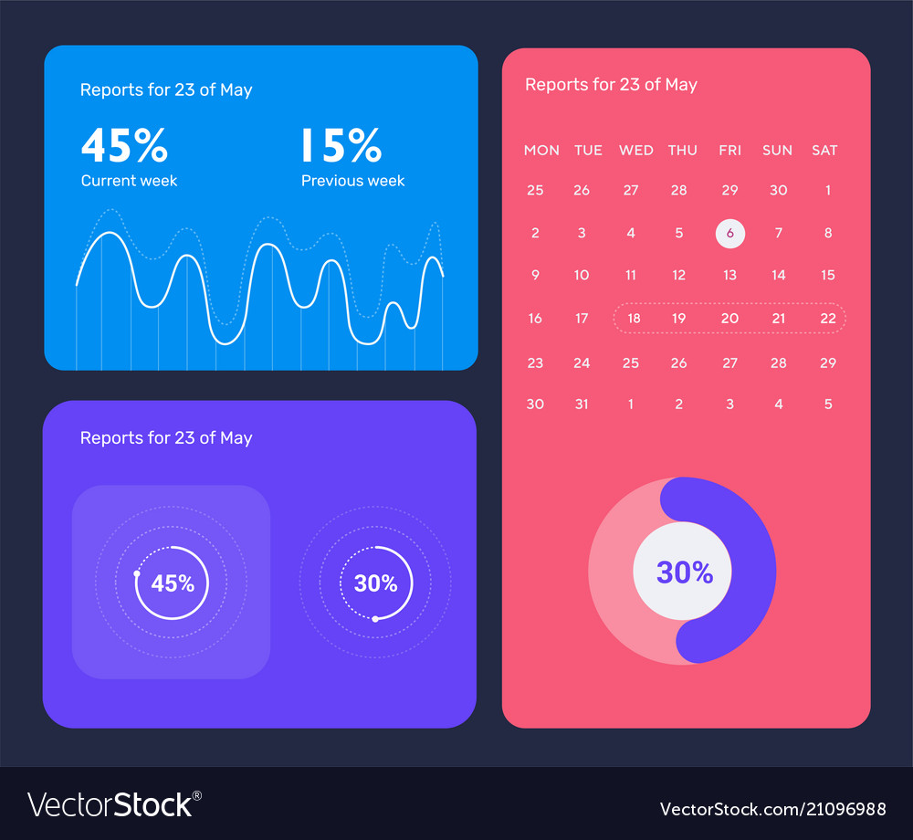 Minimalistic infographic template with flat design