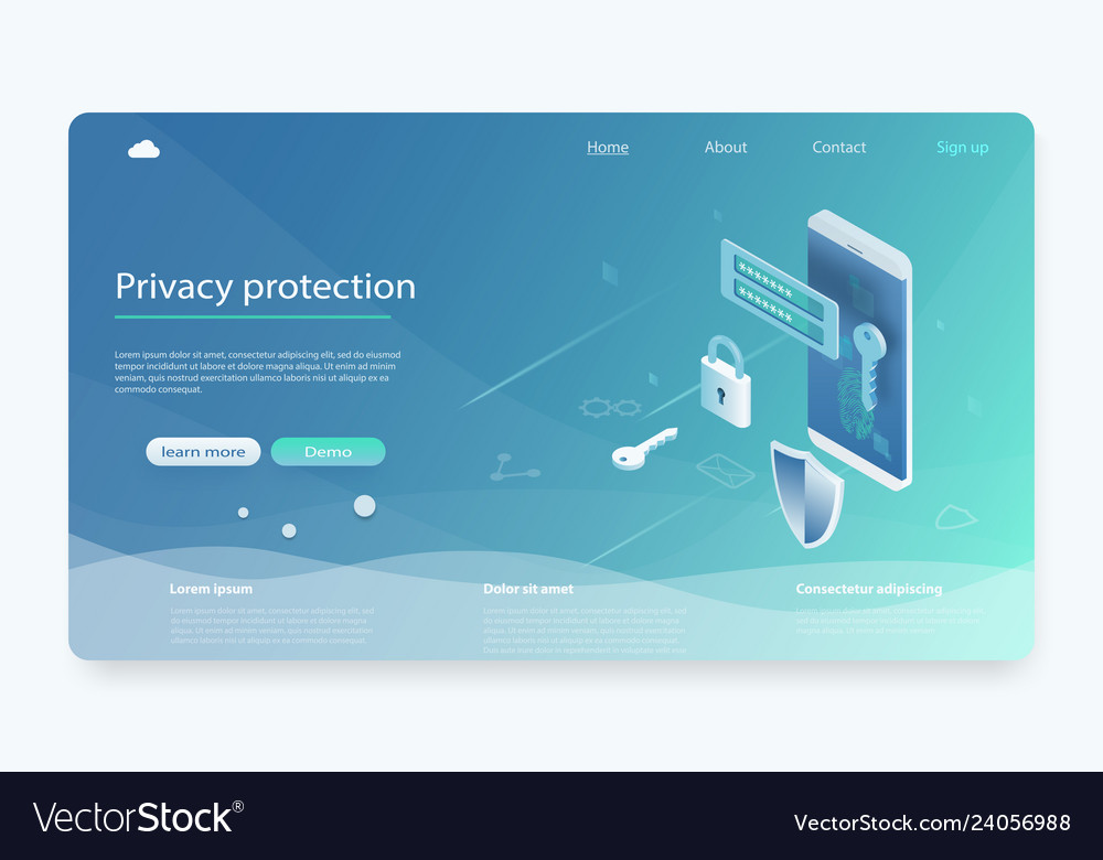 Mobile data security isometric