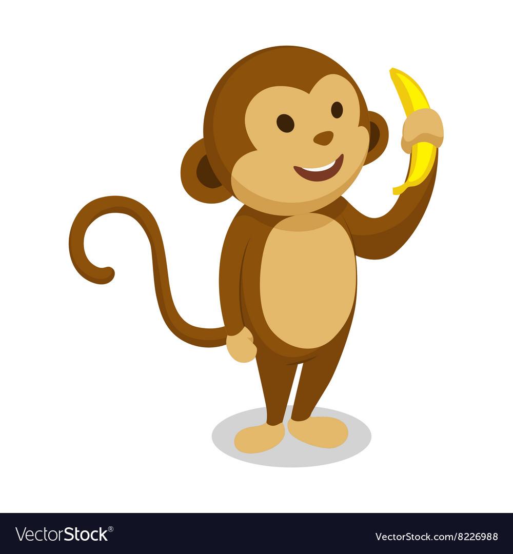 Monkey cartoon minimalistic