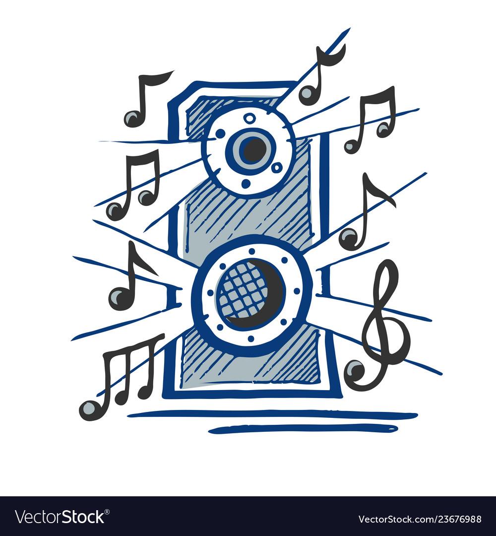 Music speaker sketch