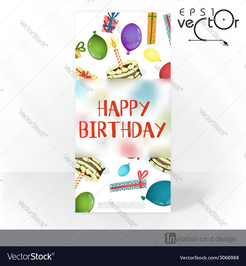Party invitation card design template royalty free vector party invitation card design template vector image stopboris Choice Image
