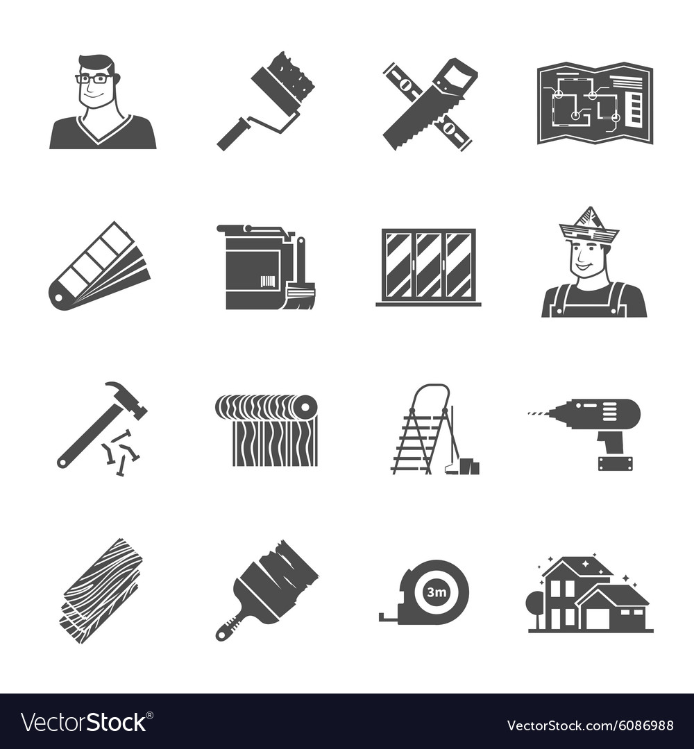 Renovation Icons Set vector image