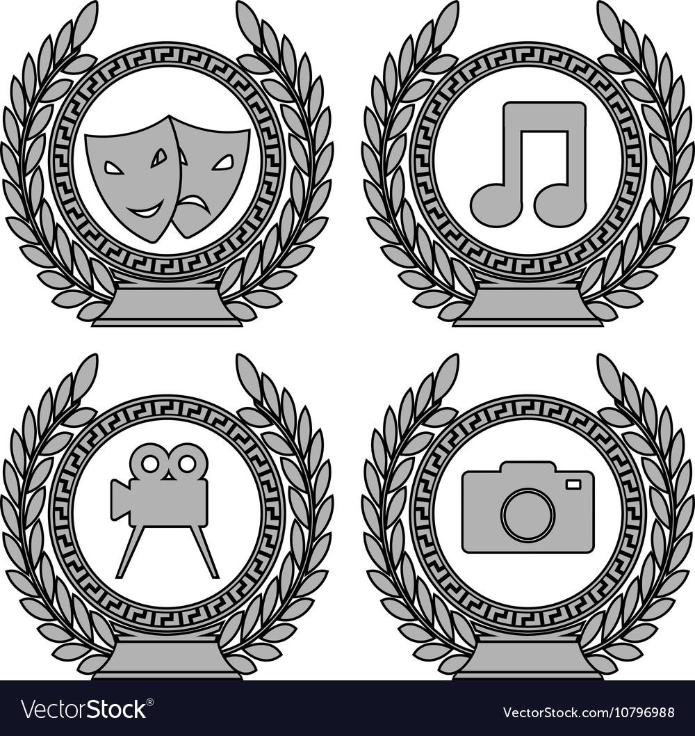 Set of symbols of achievement third variant