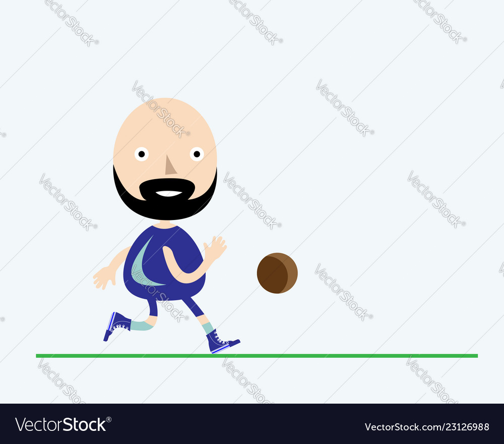 Soccer player of cartoon style