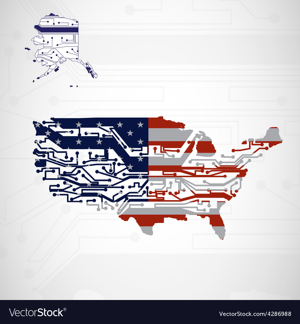 Circuit Board Usa Excellent Electrical Wiring Diagram House Maker Buy Printed Makercircuit Map Background Royalty Free Vector Image Rh Vectorstock Com Used In