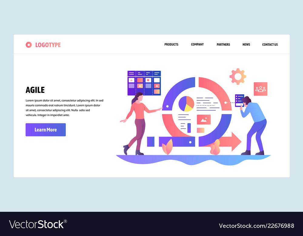 Web site design template agile project