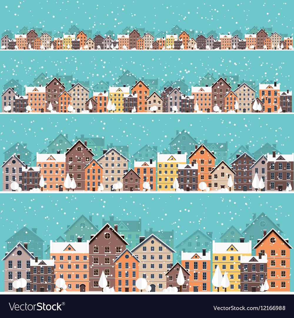 Winter urban landscape City