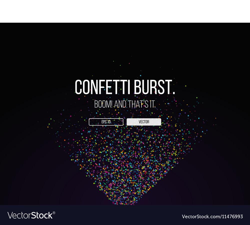 051016 1028 confetti burst vector image