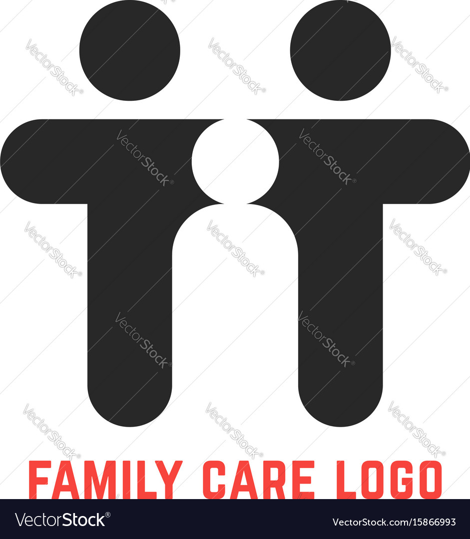 Black simple family care logo