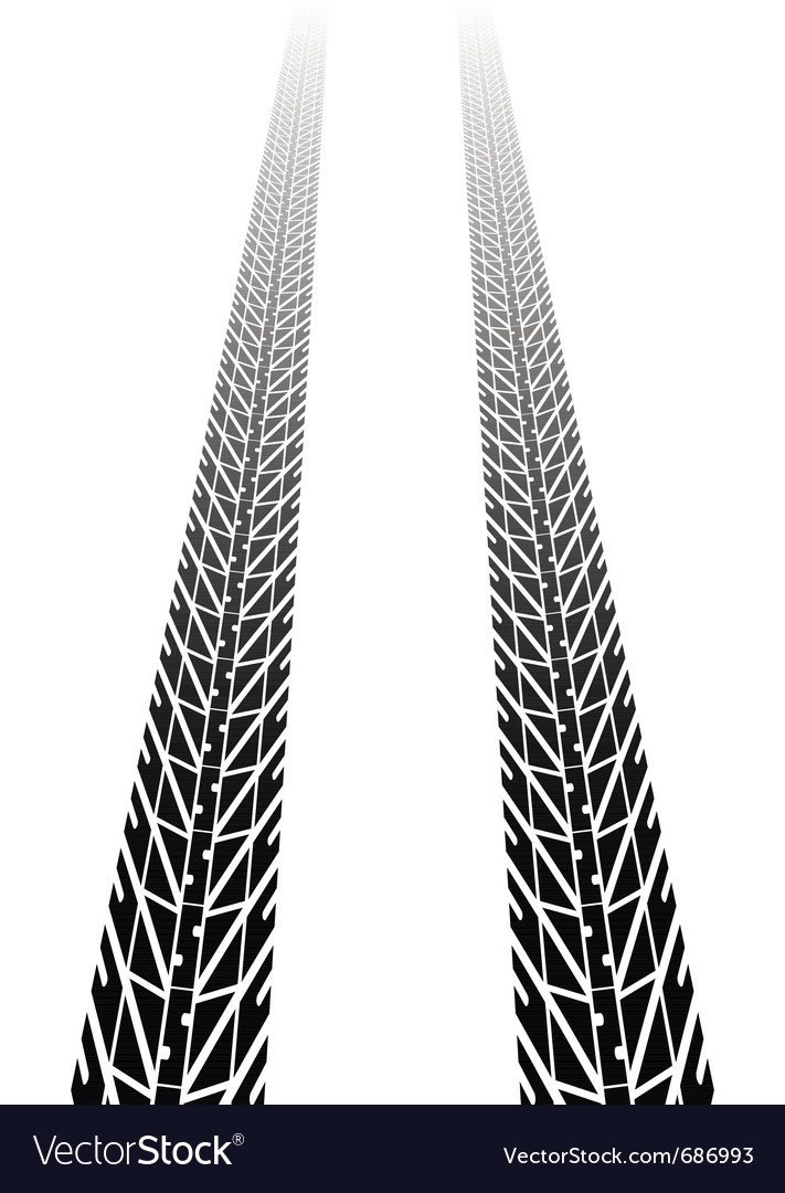 Black tire tread vector image