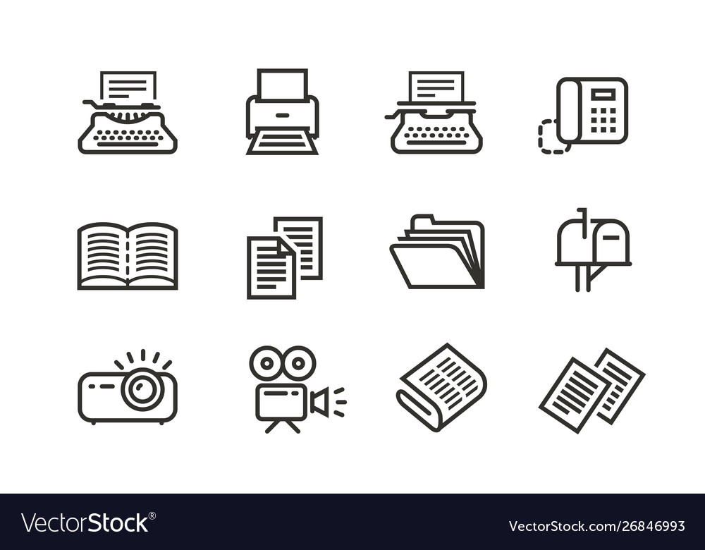 Business line icons set collection black