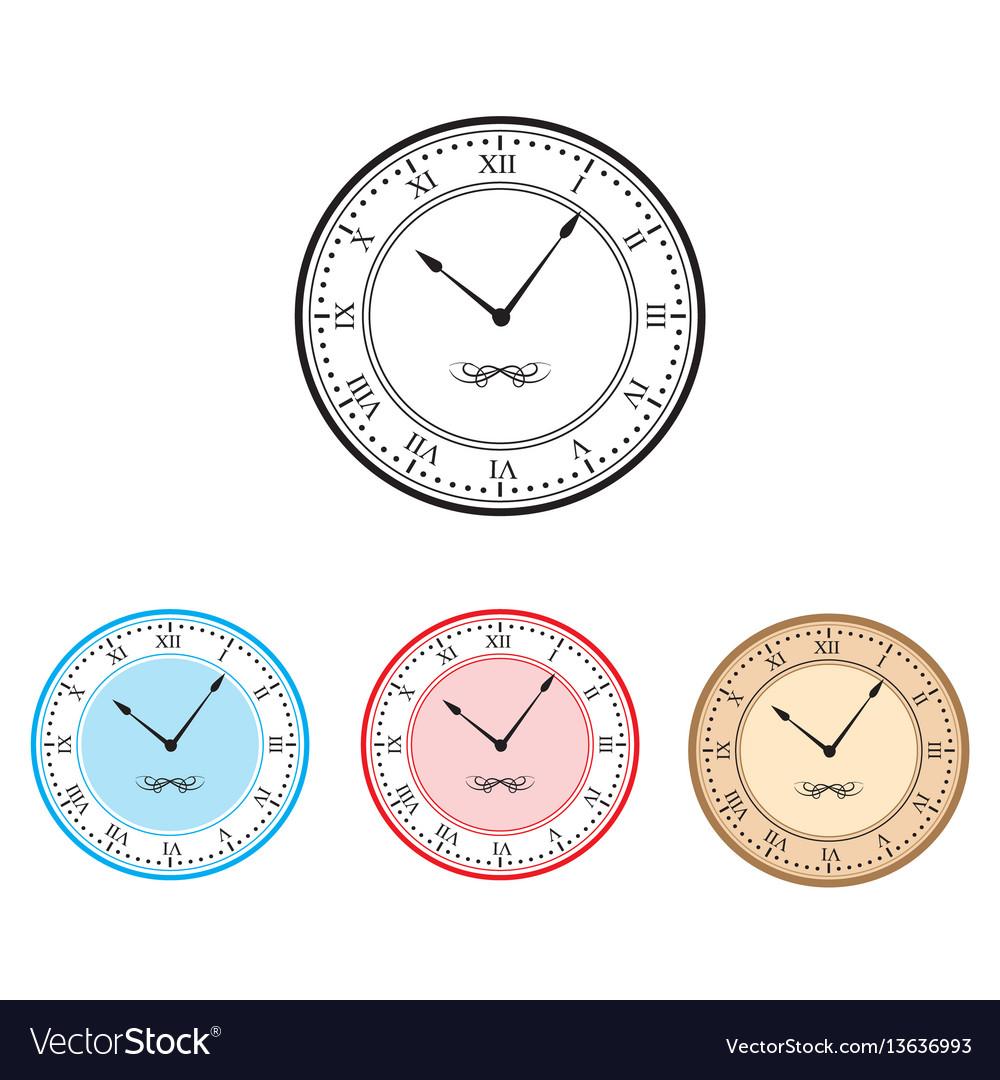 Clock clock icon set