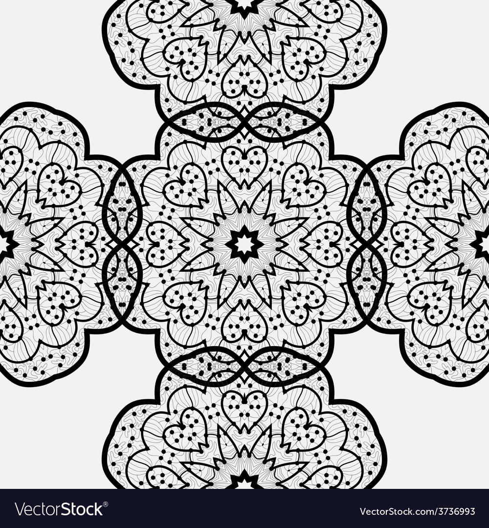 Ethnic seamless pattern Indian ornament