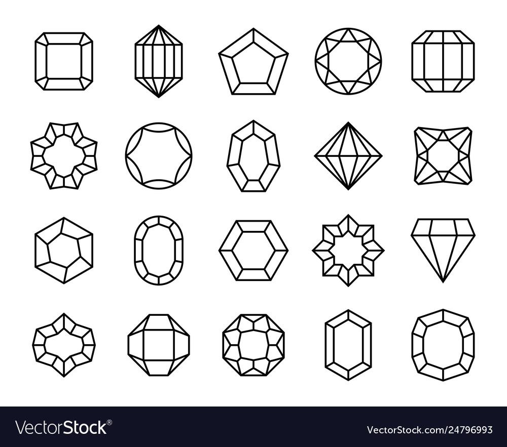 Gem line geometric gems diamonds precious jewels