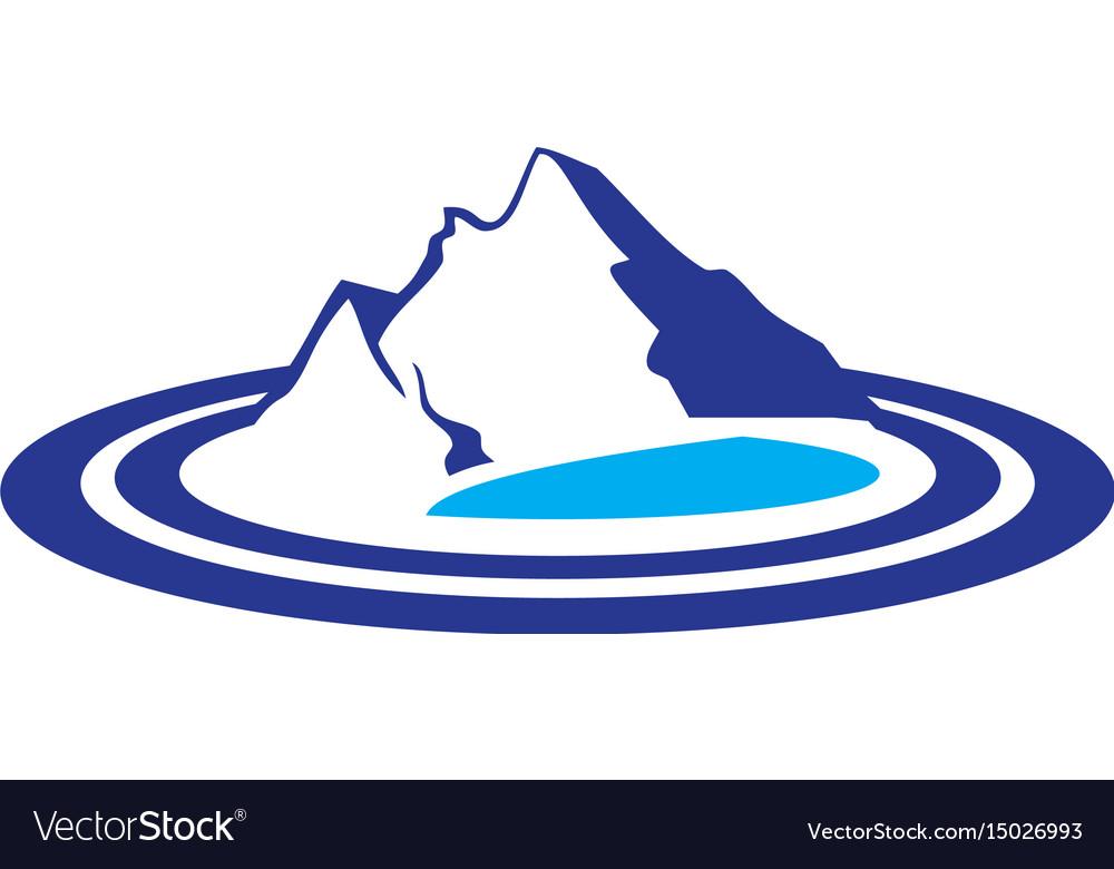 Mountains lake logo image