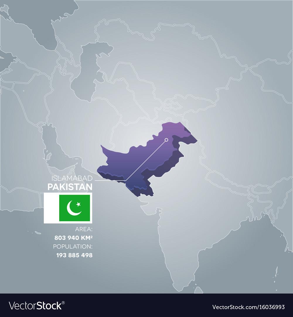 Pakistan information map vector image