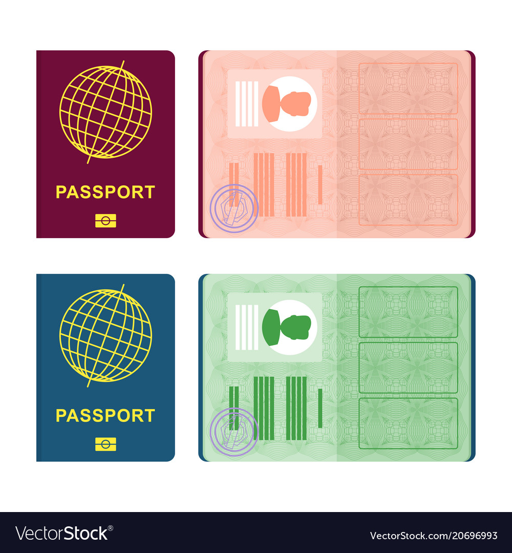 Passport Cover And Spread Royalty Free Vector Image