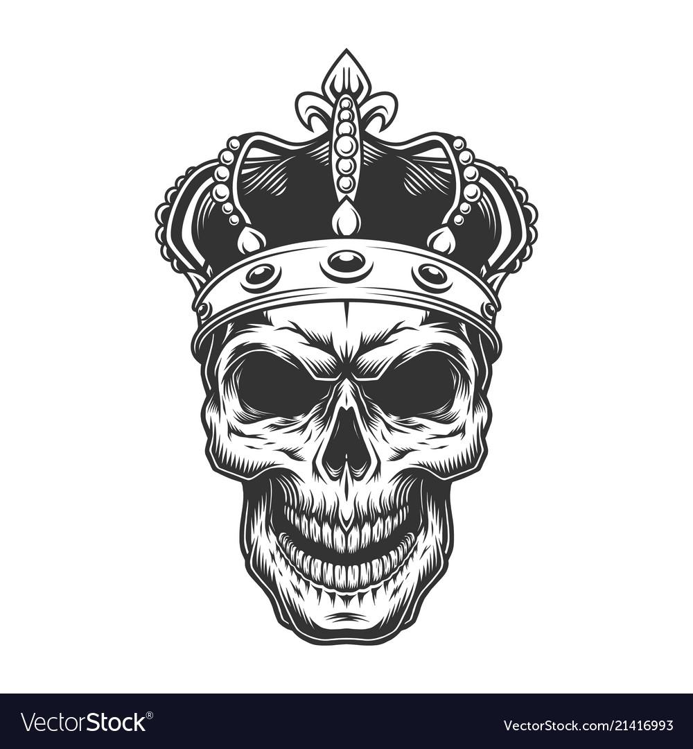 Skull in crown