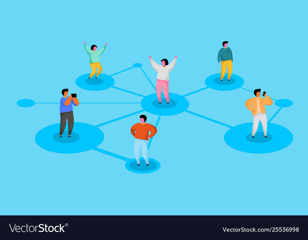 Connecting people social network concept refer a