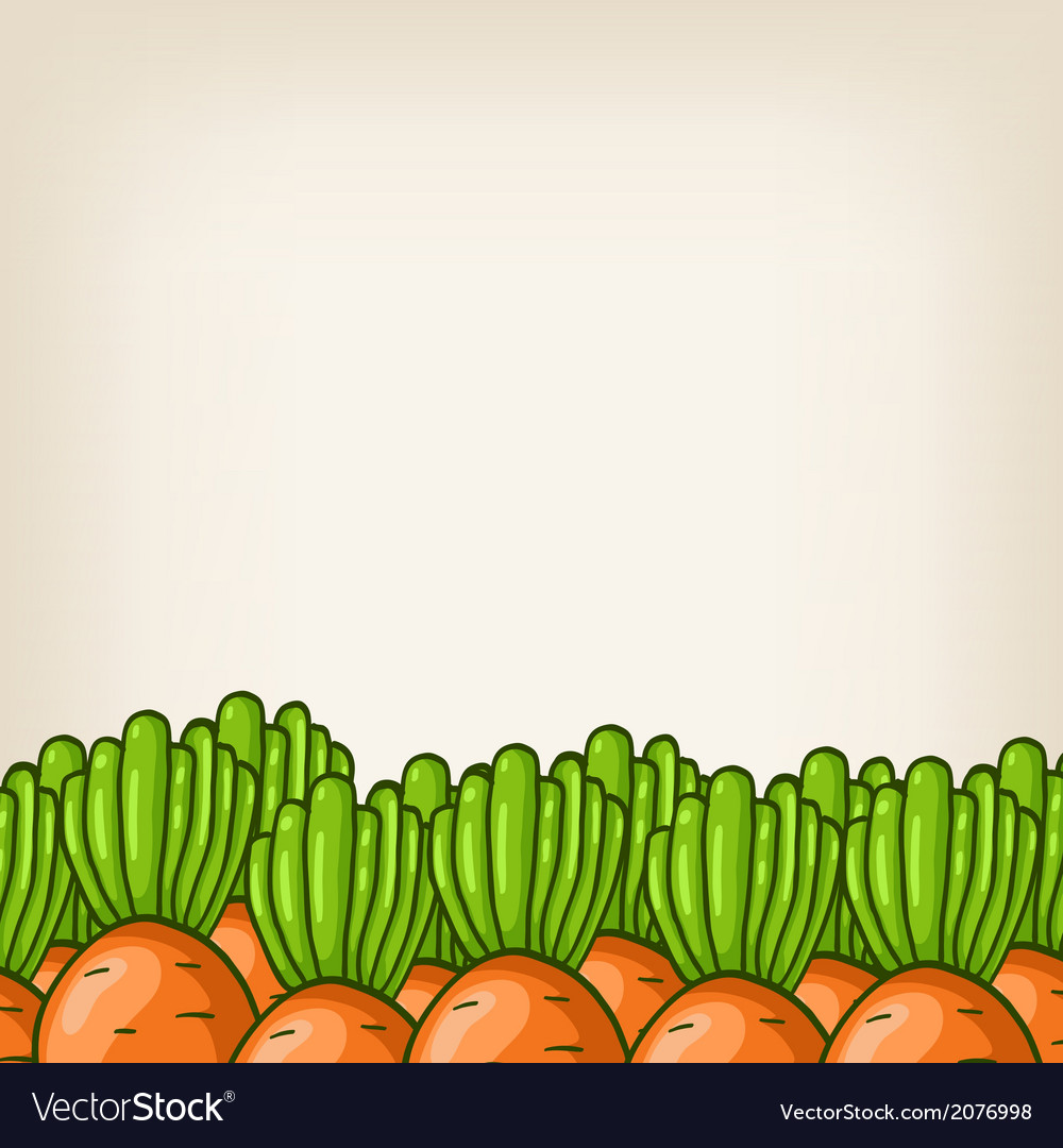 Cute background with carrot border
