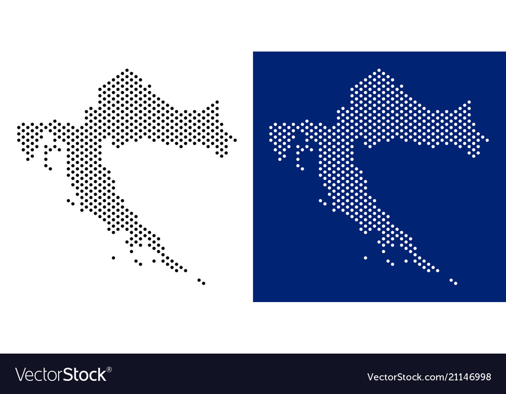 Dotted croatia map Royalty Free Vector Image - VectorStock