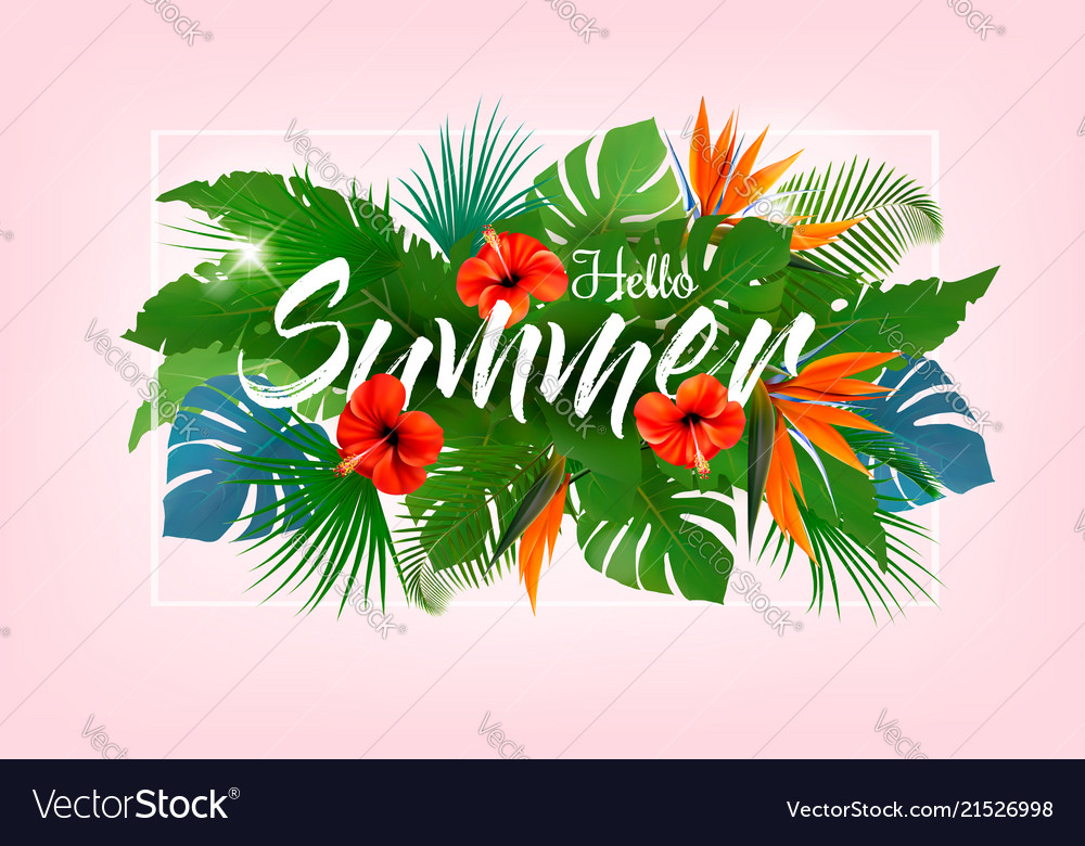 Summer tropical holiday background with exotic