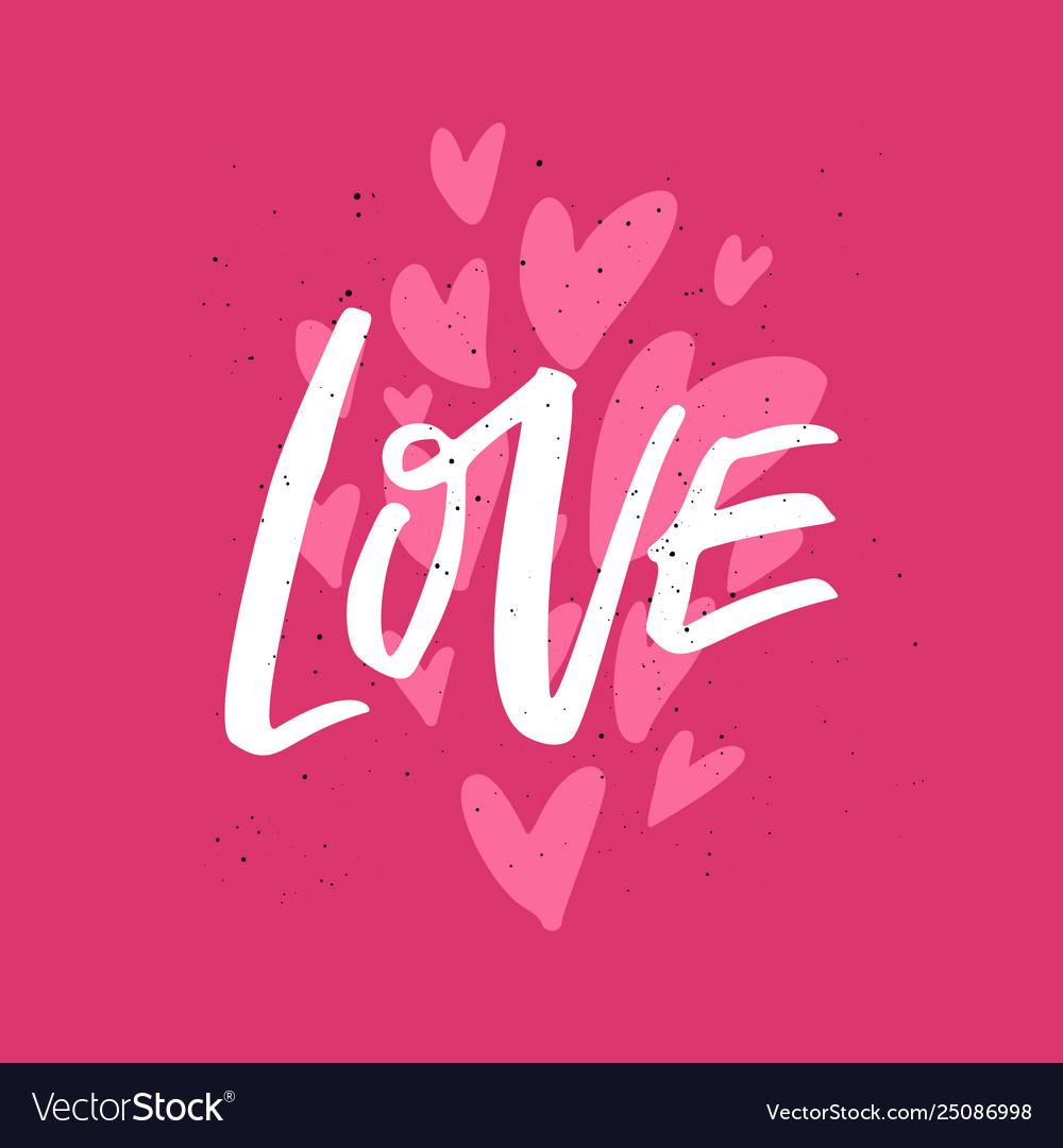 Valentines day flat hand drawn phrase