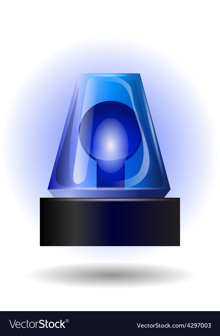 Blue flashing light vector image