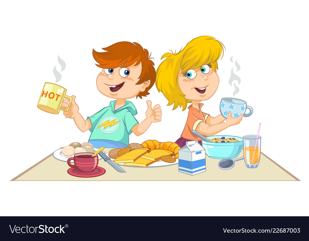 Healthy Breakfast Cartoon Pictures | TipSehatFit.com