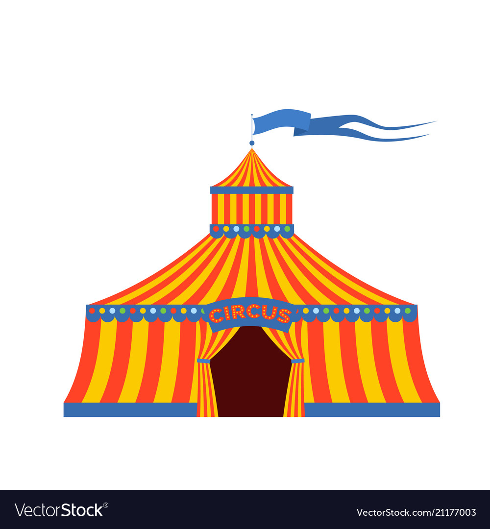 Circus tent with the inscription circus