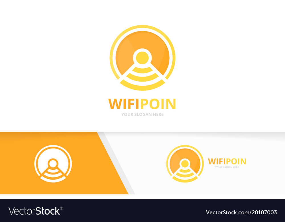 Coin and wifi logo combination money and vector image